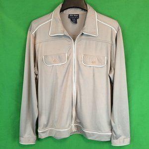 Vintage John Blair Mens Gray Track Suit Jacket, M